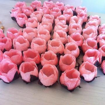 Forma em tecido Botão Rosa mini