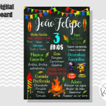 CHALKBOARD FESTA JUNINA - ARTE DIGITAL