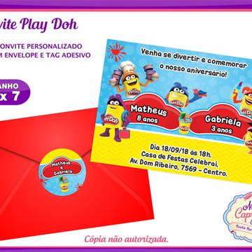 Convite Play Doh
