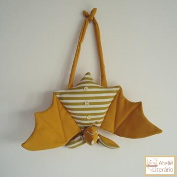 Boneco Morcego amarelo em tecido