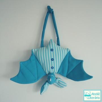 Boneco Morcego azul em tecido