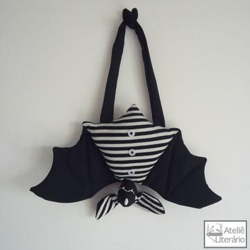 Boneco Morcego preto em tecido