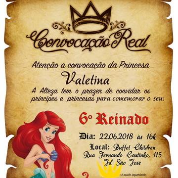 Convite digital pergaminho Ariel