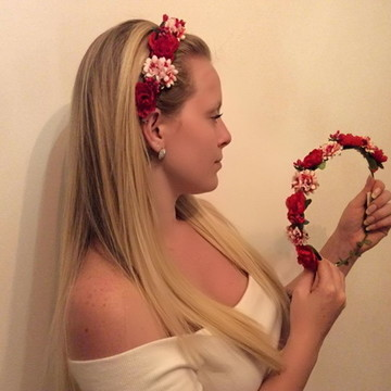 Arranjo De Flores De Cabeça Para Carnaval - Lindo