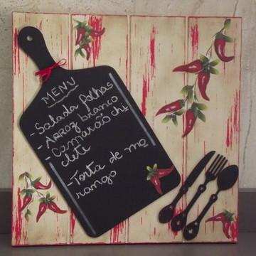Placa decorativa para cozinha