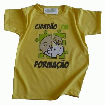 Camiseta infantil malha PET Cidadão