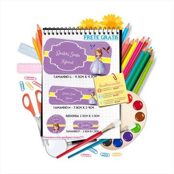 Kit adesivos material escolar personalizados