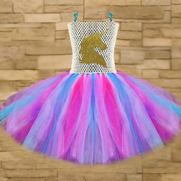 Vestido tutu - Fantasia - Unicórnio