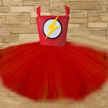 Vestido tutu - Fantasia - Flash