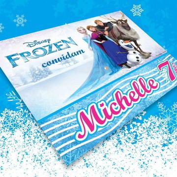Convite Aniversário Infantil Frozen