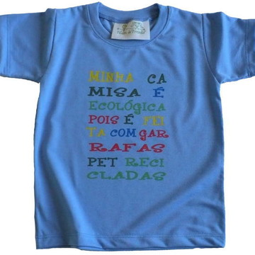 Camiseta Infantil malha PET Minha Camisa