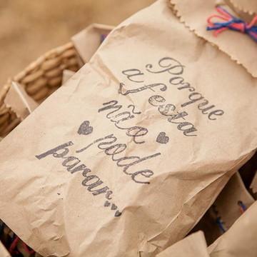 Lembrancinha casamento - saquinho para chinelo