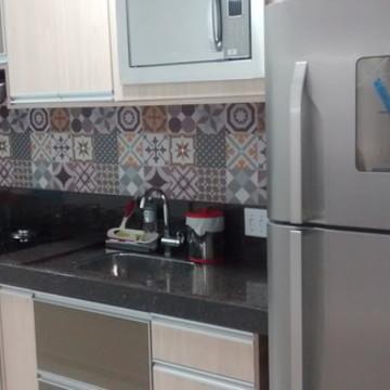 Adesivo para Azulejo de cozinha Tons Marrom Bege 3 metros