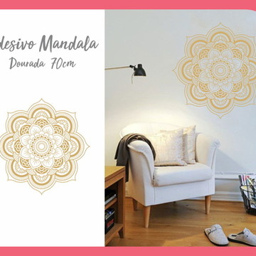 Adesivo de Mandala 70cm - Dourada
