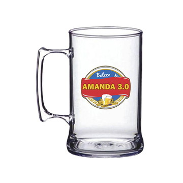 Caneca Acrilica Choop Transparente 450ml