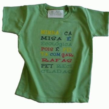 Camiseta malha PET Minha Camisa