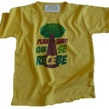 Camiseta Infantil malha PET Plantando AM