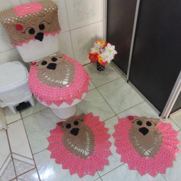 Jogo de Banheiro Coruja Croche