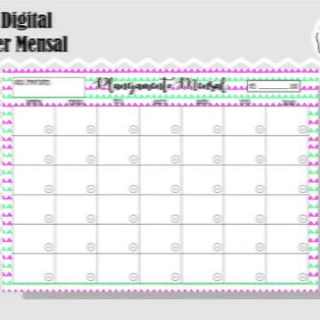 PLANNER MENSAL 1 - ARTE DIGITAL