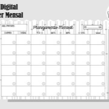 PLANNER MENSAL 2 - ARTE DIGITAL