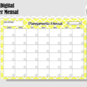 PLANNER MENSAL 6 - ARTE DIGITAL