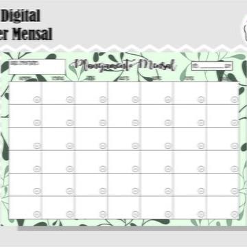PLANNER MENSAL 7 - ARTE DIGITAL