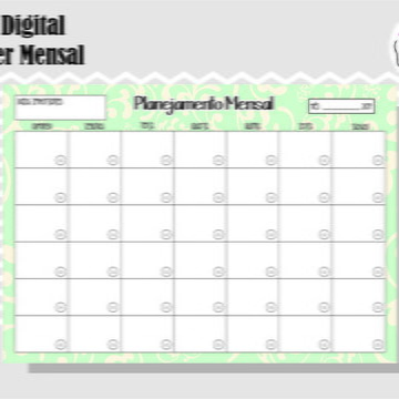 PLANNER MENSAL 8 - ARTE DIGITAL
