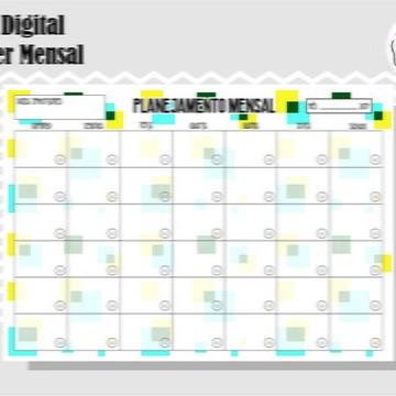 PLANNER MENSAL 9 - ARTE DIGITAL
