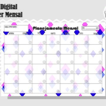 PLANNER MENSAL 10 - ARTE DIGITAL
