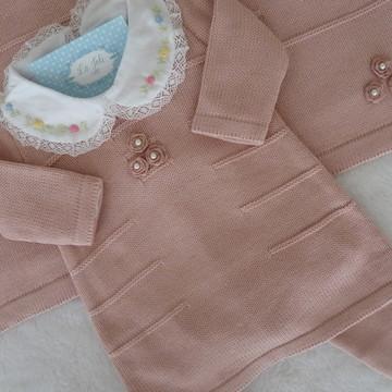 Saída de Maternidade - Vestido e Legging Rosê