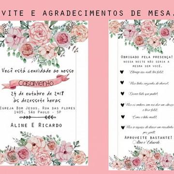 Convites de casamento - TEMA FLORAL / BOHO CHIC