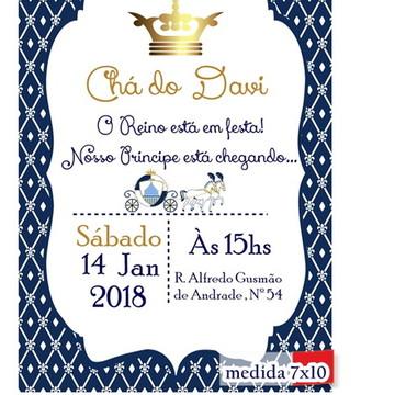Convite Realeza Menino