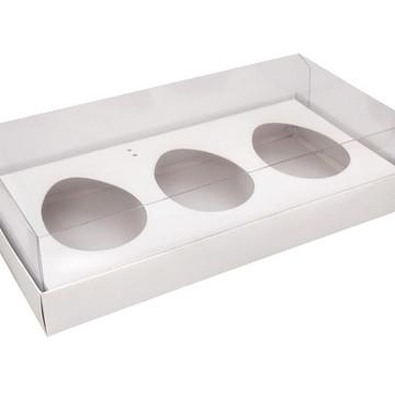 Caixa Ovo de Colher 3 x 150g Branca