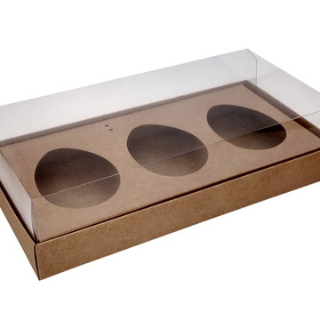 Caixa Ovo de Colher 3 x 150g Kraft