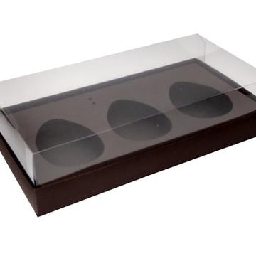 Caixa Ovo de Colher 3 x 150g Marrom
