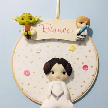 Quadro Maternidade Star Wars Menina