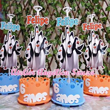 Centro de mesa Pinguins de Madagascar