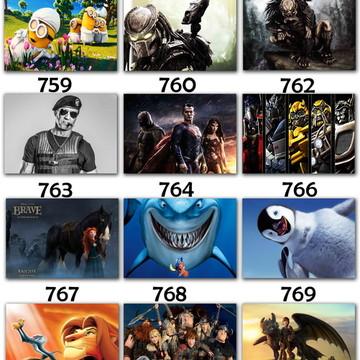 Placas decorativas filmes cinema