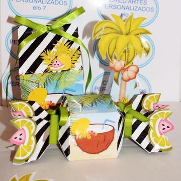kit mini lembrancinhas tropical