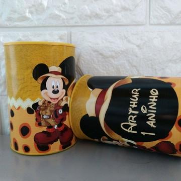 Cofre personalizado Mickey safari