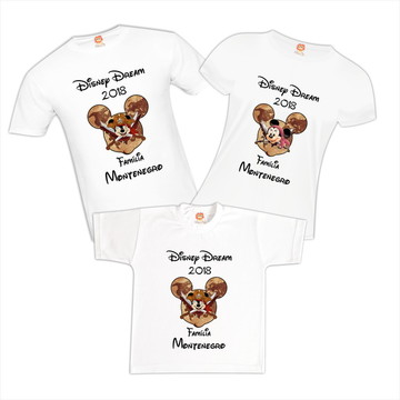 Camiseta Viagem Disney Mickey Minnie Pirata
