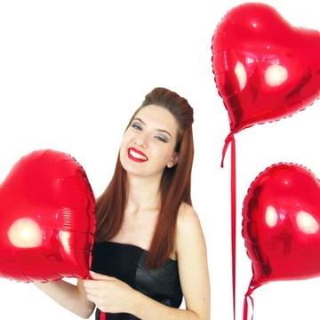 Balão de Coração Vermelho 45 Cm Decoração de Casamento