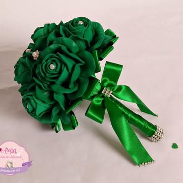 Buquê para madrinhas - Todo Verde