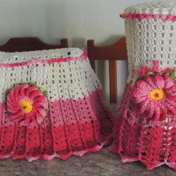 Conjunto Cozinha em croche batedeira e liquidificador croche