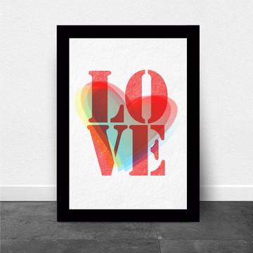 Quadro/Poster com Moldura Love