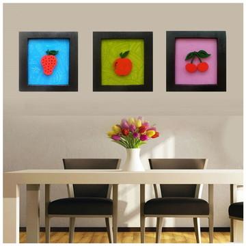 Quadros Decorativo de Cozinha 30 x 30 cm (Coloridos)