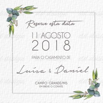 Save The Date Flores 12 Digital Personalize seu Sonho Agora