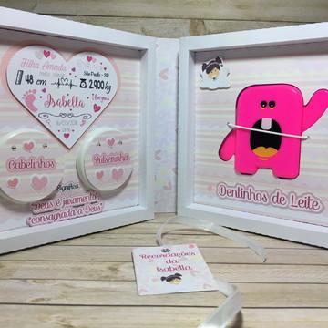 Recordações do bebê + Álbum Dental - Duo - Anjinha coração