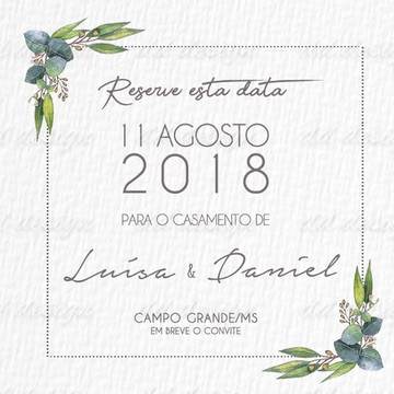Convite Casamento 12 Digital Personalize seu Sonho em 3X