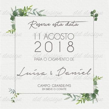 Reserve Esta Data Flores 13 Digital Personalize seu Sonho